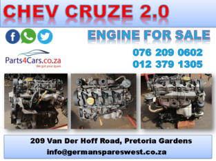 CHEV CRUZE 2.0 USED Z20S1 ENGINE FOR SALE