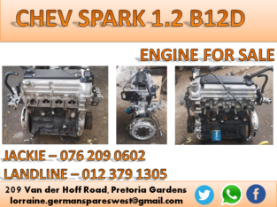 CHEVROLET SPARK 1.2 USED B12D ENGINE FOR SALE