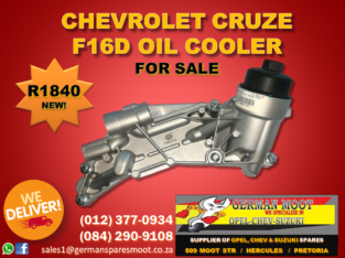 Chevrolet Cruze – NEW F16D Oil Cooler FOR SALE!