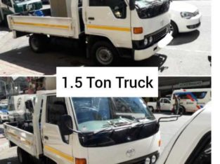 1 Ton to 3.5 Ton Vehicles for hire from R250 per load