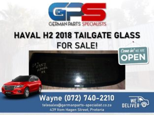 Haval H2 2018 – Tailgate Glass FOR SALE!