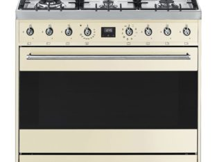 SMEG 90cm 6 Burner Gas Hob / Electric Stove Cream (C9MAPSSA9)