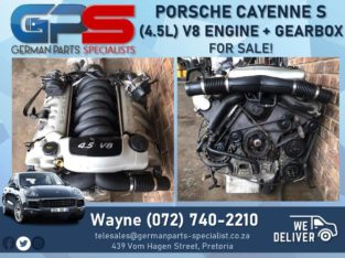 (4.5L) V8 Engine Gearbox – Porsche Cayenne S FOR SALE!