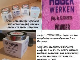 100% HAGER WERKEN +27839281381 EMBALMING COMPOUND POWDER