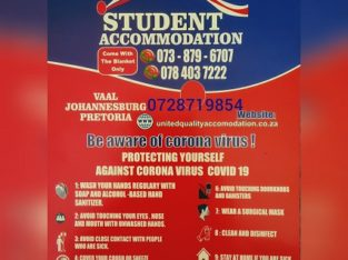 Student Accommodation in Vereeniging After Lockdown and NXT YEAR