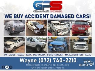 WE BUY ACCIDENT DAMAGED CARS!