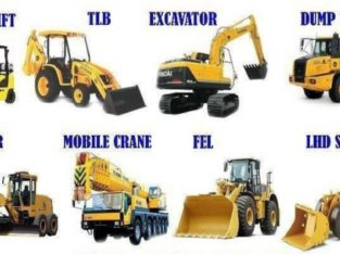 Excavator,Roller,Tower Crane,Mobile Crane, TLB Call 0834237665