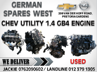 CHEV UTILITY 1.4 USED GB4 ENGINE FOR SALE
