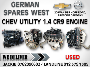 CHEV UTILITY 1.4 USED CR9 ENGINE FOR SALE