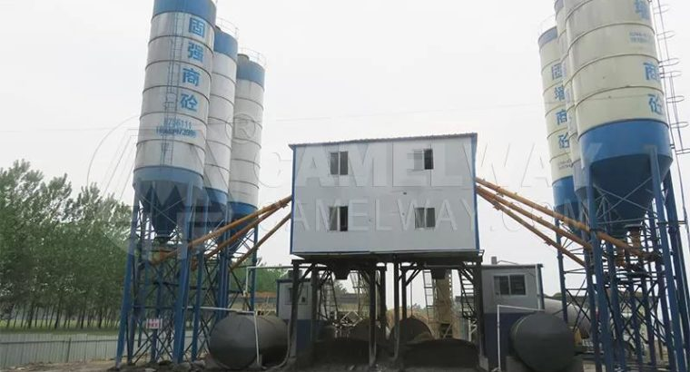 Double Mixers Concrete Batching Plant