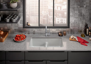 Top-mount/undermount double-equal kitchen sink