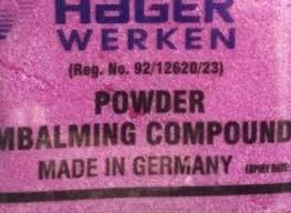 Pink hager werken +27839281381 embalming compound powder