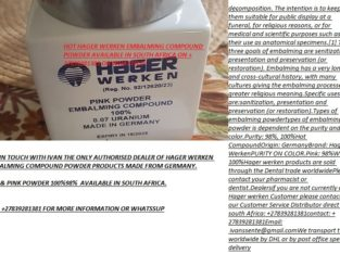 +27839281381 HAGER WERKEN EMBALMING COMPOUND POWDER FOR SALE