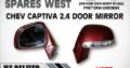 CHEV CAPTIVA 2.4 USED DOOR MIRROR FOR SALE