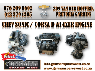 CHEV SONIC / CORSA D ( A14XER ) ENGINE FOR SALE