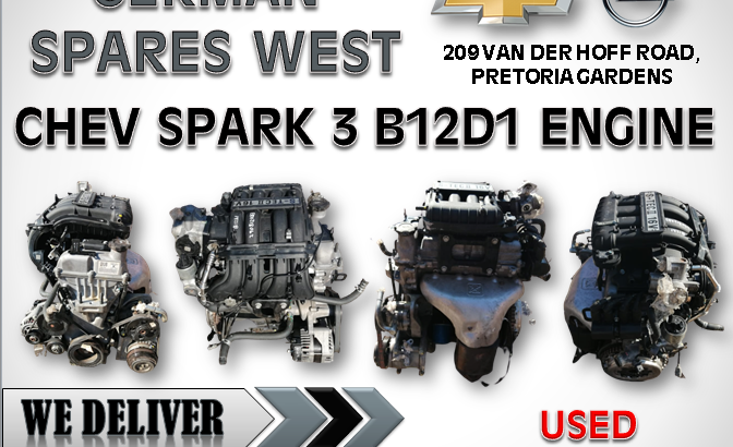 CHEV SPARK 1.2 ( B12D1 ENGINE ) FOR SALE