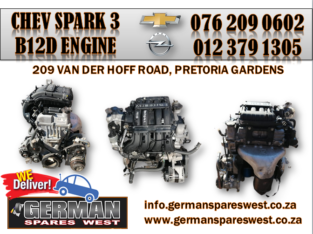 CHEVROLET SPARK 3 USED B12D ENGINE FOR SALE