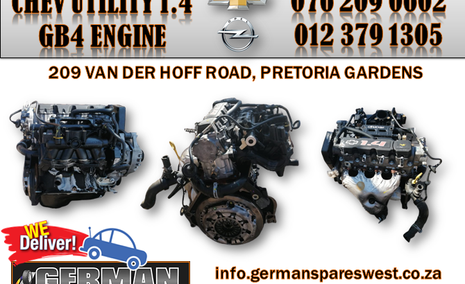 CHEVROLET UTILITY 1.4 USED GB4 ENGINE FOR SALE