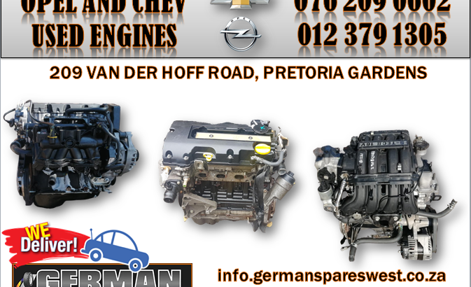OPEL AND CHEVROLET USED ENGINES FOR SALE