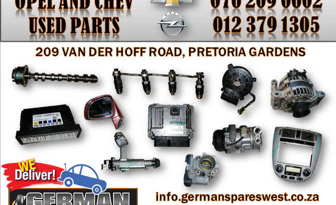 OPEL AND CHEVROLET USED PARTS FOR SALE