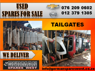 CHEVROLET & OPEL USED TAILGATES FOR SALE