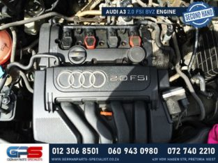 Audi A3 2.0 FSI BVZ Used Engine & Used Spares