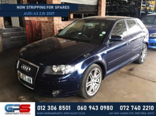 Audi A3 2.0 Turbo 2007 Used Spares & Parts