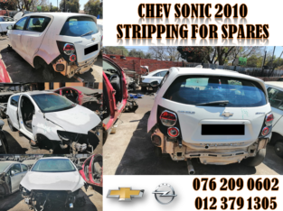 CHEV SONIC 2010 USED SPARES FOR SALE