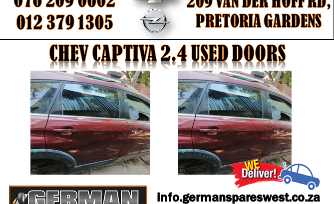 CHEV CAPTIVA 2.4 USED DOORS FOR SALE