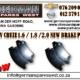 CHEV CRUZE 1.6 / 1.8 / 2.0 NEW BRAKE PADS FOR SALE