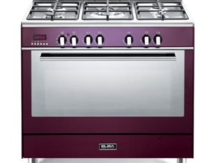 ELBA Red 90cm Fusion 5 Burner Gas/Electric Cooker – 9FX827R