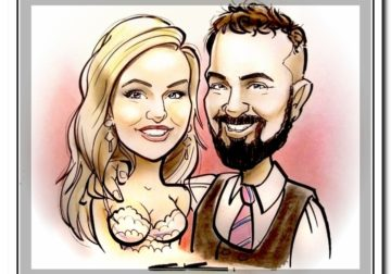 3 minute Caricature Sketches live at Events and Weddings – Artist