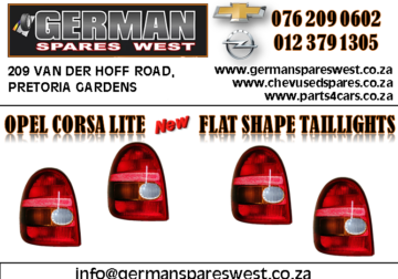 OPEL CORSA LITE NEW FLAT SHAPE TAILLIGHT