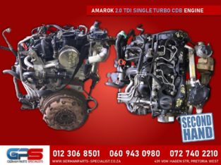 Volkswagen Amarok 2.0 TDI Single Turbo CDB Used Engine & Spares