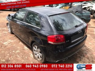 Audi A3 2009 2.0 FSI Stripping for Used Spares & Parts