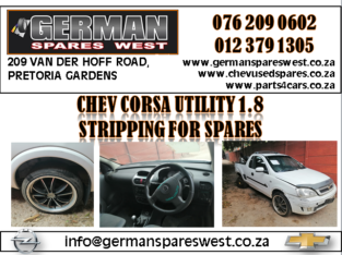 OPEL CORSA UTILITY 1.8 SPARE PARTS FOR SALE