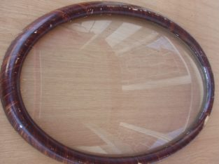 Antique Oval Bubble Glass Frame