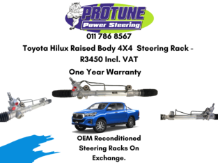 Toyota Hilux Raised Body 4X4 – OEM Reconditioned Steering Racks