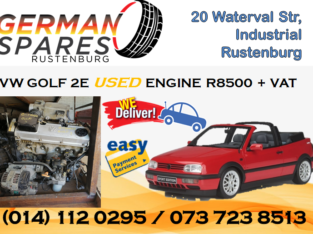 VW GOLF 2E USED ENGINE FOR SALE!!!