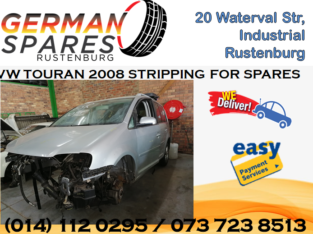 VW TOURAN 2008 STRIPPING FOR SPARES!!!