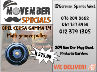 OPEL CORSA GAMMA 1.4 NEW MULTI GROOVE PULLEY – SPECIAL -R 575.00