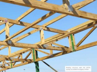 A grade S7 treated wooden roof trusses