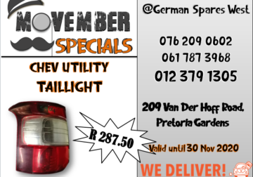 CHEV UTILITY TAILLIGHT SPECIAL -R 287.50