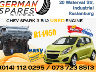 CHEV SPARK 3 B12 USED ENGINE FOR SALE!!!