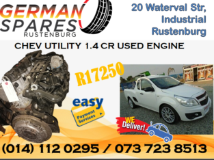 CHEV UTILITY 1.4 CR USED ENGINE FOR SALE!!!