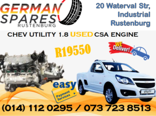 CHEV UTILITY 1.8 CSA USED ENGINE FOR SALE!!!