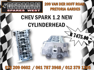 CHEV SPARK 1.2 NEW CYLINDERHEAD – R 7475.00