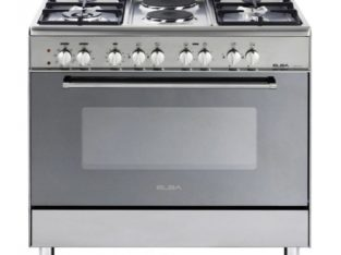 ELBA 900mm 4 Gas Burner 2 Plate Stove Stainless Steel – 01/9CX727