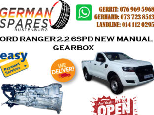 FORD RANGER 2.2 6SPD NEW MANUAL GEARBOX FOR SALE!!!