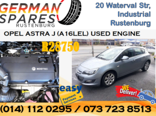 OPEL ASTRA J (A16LEL) USED ENGINE FOR SALE!!!